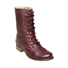 Free Shipping - Steve Madden Troopa Women's Combat Boots  WINE COLORED!!