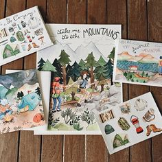 "It's giveaway time, featuring my Adventure Pack!  Included is one 8.5x11"" Take Me to the Mountains print, a Greetings from Camp card, an Adventure Buddy card, a Let's Go Camping card and a camping sticker sheet!  To enter, all you have to do is comment below and tag your favorite adventure buddy! You must also be following @little_canoe to win. I'll choose the lucky winner Tuesday, May 5th. Good luck!"