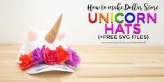 DIY Unicorn Hat Tutorial using heat transfer vinyl (HTV) and cutting machine - One Project Closer