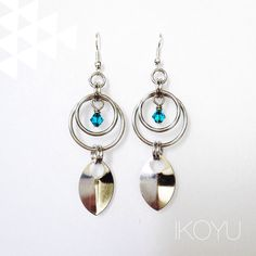 IKOYU tribal chainmaille earrings ikoyu.storenvy.com