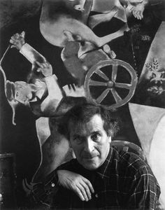 "Marc Zakharovich Chagall was a Belarussian-Russian-French artist. Art critic Robert Hughes referred to Chagall as ""the quintessential Jewish artist of the twentieth century"".  1942 photograph by Arnold Newman"