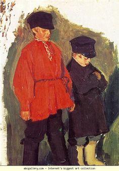 Boris Kustodiyev. Village Boys. Olga's Gallery.