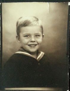 +~ Vintage Photo Booth Picture ~+ Little Sailor Boy