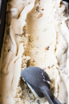the best ice cream flavor in the world; maple custard ice cream with toasted walnuts