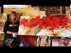MONITOR | Gabriela Mensaque pinta flores rojas | Manos a la Obra - YouTube