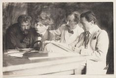"""""""UNSPECIFIED - JANUARY Photograph by Frank Eugene. Frank Eugene, Alfred Stieglitz, Heinrich Kuhn and Edward Steichen in Munich discussing a new colour process, autochromes. Get premium, high resolution news photos at Getty Images Straight Photography, Modern Photography, Abstract Photography, Street Photography, Edward Steichen, Alfred Stieglitz, Most Famous Photographers, Margaret Bourke White, Art Students League"""