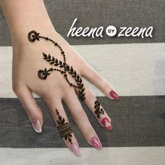 Beautiful and Simple Henna Designs for Hands Indian Henna Designs, Finger Henna Designs, Modern Mehndi Designs, Mehndi Design Pictures, Unique Mehndi Designs, Mehndi Designs For Fingers, Henna Designs Easy, Beautiful Mehndi Design, Henna Tattoo Designs