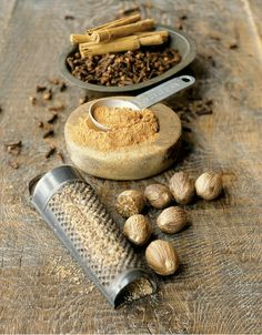 Nutmeg, cloves and cinnamon