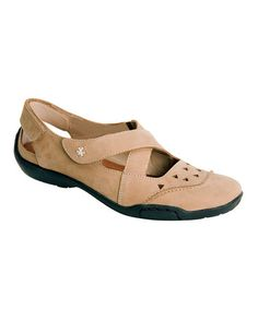 Look at this #zulilyfind! Taupe Nubuck Carrie Leather Mary Jane by Ros Hommerson by Drew #zulilyfinds