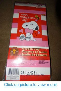 Peanuts Snoopy Happy Valentine's Day Flag New 2014 Release #Peanuts #Snoopy #Happy #Valentines #Day #Flag #New #Release