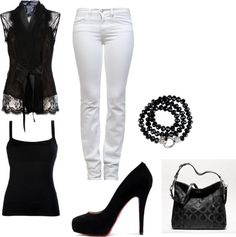 """#12 black and white outfit so classy"" by adrianna1nicole on Polyvore"