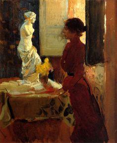 Clotilde contemplando la Venus de Milo, Joaquín Sorolla Bastida