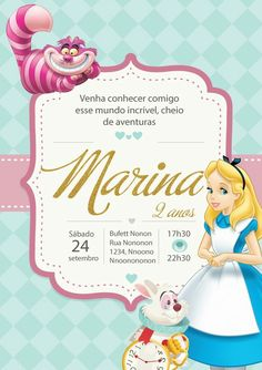 Princess Birthday Invitations, Diy Origami, Maria Alice, Alice In Wonderland, Party Themes, Cinderella, Baby Shower, Disney Princess, Maya