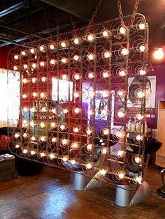 lighted box spring room divider