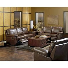 Palliser Furniture Brunswick Arm Chair Color: All Leather Protected - Tulsa II Jet, Upholstery: All Leather Protected - Tulsa II Dark Brown