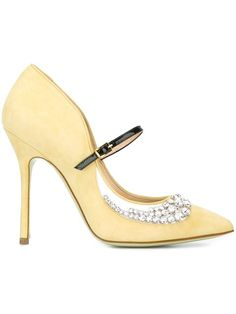 Shop Giannico embellished 'New Margot' pumps.