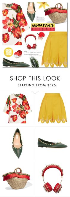 """Summer Brights"" by mada-malureanu ❤ liked on Polyvore featuring Dolce&Gabbana, Temperley London, Valentino and summerbrights"