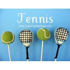 all tennis fans remember all pops can be personalized all cake pops . Tennis Cake, Tennis Party, Tennis Gifts, Cake Cookies, Cupcake Cakes, Birthday Party Treats, Birthday Ideas, I Had An Epiphany, Opening A Bakery