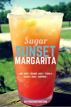 No tequila was harmed during the making of Sugar Sunset Margaritas. I'm lying. Whole bottle, gone. Let's just call it experimental mixology. buythiscookthat.com/sunset-margaritas/ #margarita #tequila #cocktail #tequilacocktails