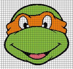 TMNT-MICHELANGELO Graphghan Pattern | Craftsy