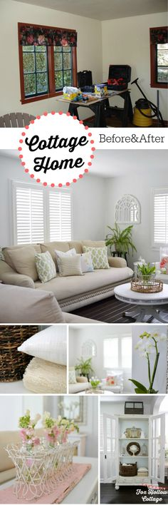 1920's Cottage Home Before and After - Diy Home Improvement Projects and Ideas