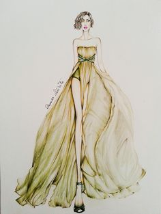 fashion illustration Georges Hobeika, Illustration, Fashion Design, Illustrations