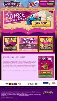 If you enjot WMS, NetEnt and IGT slots, you'll want to check out Wish Bingo Casino.