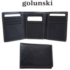 96b8a09e9 Style 861: Mens Premier Quality Credit Card Wallet Vintage Black Leather By  Golunski