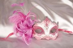 Feather Venetian Masquerade Masks for women - Daniela Silver