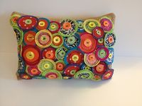 Handmade Pillow from Fabric Scraps and Buttons