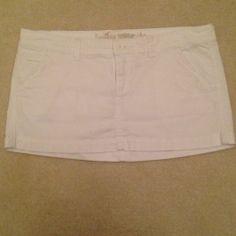 Hollister White Cotton Mini Skirt  - $14