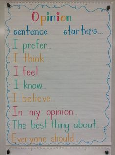 Live, Love, Laugh, and Learn in 1st Grade!: Whats Your Opinion?