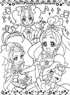 colouring pages princess precure