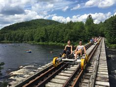 Railbiking in the Adirondacks is a perfect family activity! Plan your trip to the Lake George area and head to Revolution Rail Co for an unforgettable adventure! Vacation Places, Vacation Destinations, Vacation Spots, Places To Travel, Vacation Ideas, Family Vacations, Family Travel, Oh The Places You'll Go, Places To Visit
