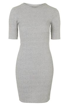 Topshop Half Sleeve Ribbed Body-Con Dress (Nordstrom Exclusive) | Nordstrom