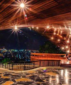 Vista de noche desde El Club Táchira, Venezuela