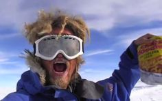 After traveling for 3 months solo across Antarctica, Aleksander Gamme finds the stash of junk food he left for himself. AND IS SO EXCITED
