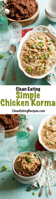 I'm so in love with this Clean Eating simple chicken korma. It's so good and only takes a few minutes to get it started and then most of the rest of the time I can do whatever I want while it cooks.