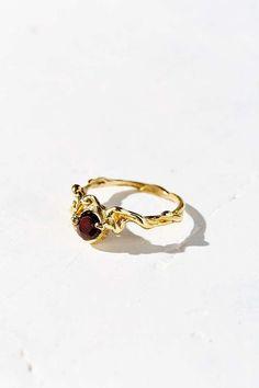 HLSK Sefi Garnet Ring - Urban Outfitters