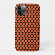Shop Orange Polka Dots Black Background Pattern Case-Mate iPhone Case created by KrappyThings. Black Background Pattern, Iphone 11, Apple Iphone, Succulents Diy, School Colors, Plastic Case, Iphone Case Covers, Black Backgrounds, Polka Dots