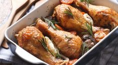 There are many recipes for baked chicken with cream of chicken soup or cream of mushroom soup. Chicken Thighs Mushrooms, Roasted Chicken Thighs, Boneless Chicken Thighs, Baked Bone In Chicken, How To Cook Chicken, Chicken Legs, Creamed Mushrooms, Stuffed Mushrooms, Stuffed Peppers