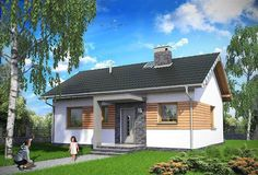 EKO 14 | Projekty rodinných domov | Stavby domov Plywood Design, Building Code, Garage Doors, Shed, Outdoor Structures, Mansions, House Styles, Garden, Outdoor Decor