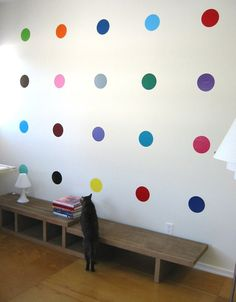 With colors like lemon, cotton candy pink and kiwi, Blik Sweet 16 polka dot decals add delicious color and a sense of fun to any wall. Inspired by British artist Damien Hirst's spot paintings where no two colors are alike, blik SWEET 16 has sixteen different colored dots in a package. Arrange the colorful circles in a grid-like pattern or scatter on a wall like confetti.
