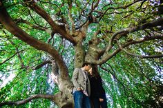 Longwood gardens engagement photos out in nature