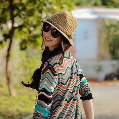2017 New Fashion Summer beach Hats for Woman Bohemia Style Sun Hat Madagascar Colorful Plaits Straw Caps wholesale B200