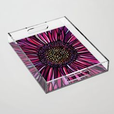 Magenta Gerbera Daisy Acrylic Tray by claudineintner Topcoat, Gerbera, Trays, Magenta, Color Pop, Art Decor, Eco Friendly, Daisy, Colorful
