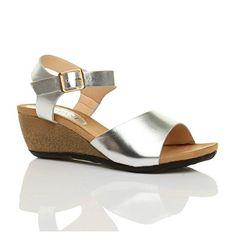 Damen Mittlere Keilabsatz Peep Toe Bequem Fußbett Plateausandale Größe 3 36 - Sandalen für frauen (*Partner-Link)