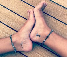 Anker tattoo theme: 54 cool ideas for each of your next t .- Anker Tattoo Thema: 54 coole Ideen für jedes dein nächstes Tattoo – Anker tattoo theme: 54 cool ideas for each of your next tattoo – … – - Tatuajes Tattoos, Bff Tattoos, Anchor Tattoos, Friend Tattoos, Mini Tattoos, Small Tattoos, Sleeve Tattoos, Flower Tattoos, Small Tattoo Foot