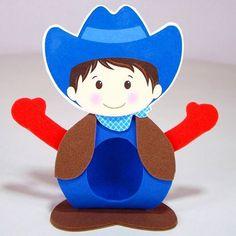 Porta bombom ema Fazendinha -  Cowboy #lembrancinha #bombom #lembrancinhacriativa #portabombom #fazendinha #fazenda #cowboy #festacriativa #festafazendinha #aniversário #festa #fiesta #party #kids #infantil #cumple #criativo #criança