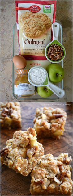 Easy Caramel Apple Bars! This crowd-pleasing recipe comes together in 15 minutes and bakes in about 20. The hardest part is waiting for them to cool long enough to cut! #apple #easy